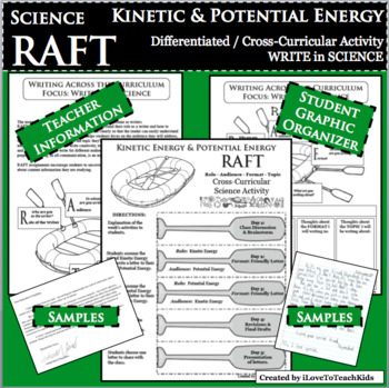 RAFT Kinetic & Potential Energy WRITE SCIENCE Differentiated Cross-Curricular