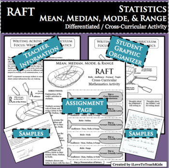 RAFT Mean Median Mode Range Statistics Cross-Curricular Differentiated