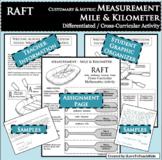 RAFT Measurement Mile Kilometer Customary Metric Cross-Curricular Differentiated