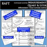 RAFT Measurement Quart Liter Customary Metric Cross-Curricular Differentiated