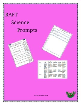 R.A.F.T. Science Writing Prompts
