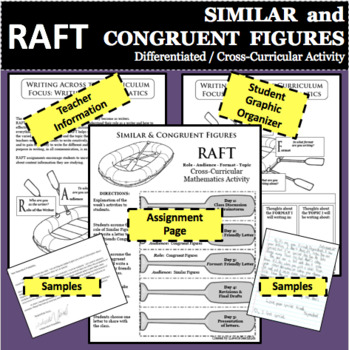 RAFT Similar & Congruent Figures Geometry Differentiated Cross-Curricular