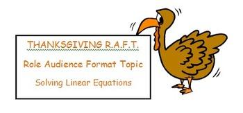 RAFT - Solving Equations (Thanksgiving)