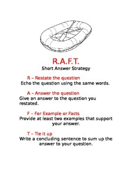 RAFT Strategy for Short Answer Questions