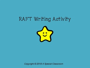 RAFT Writing Activity
