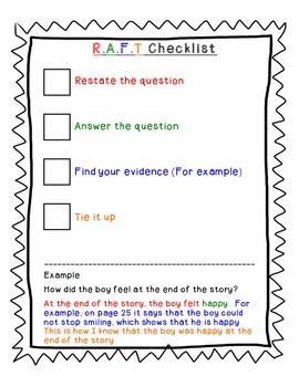 RAFT Writing Checklist
