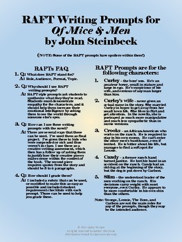 RAFT Writing Prompts for Of Mice and Men