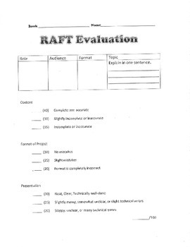 RAFT and Evaluation for Because of Mr. Terupt