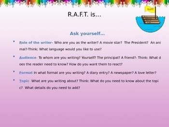 R.A.F.T. writing strategy
