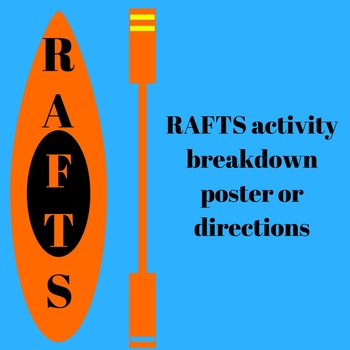 RAFTS Activity Poster/Directions