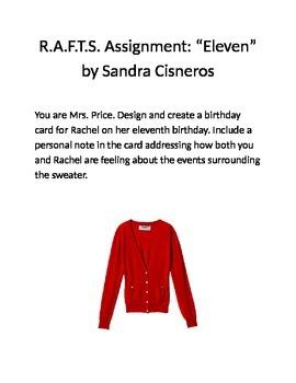 "RAFTS Assignment: ""Eleven"" by Sandra Cisneros"