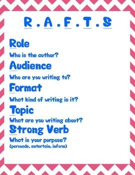 R.A.F.T.S Writing