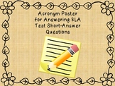RAGGS Writing Strategy for ELA Test Short Answer Questions--Poster