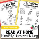 Reading Log:  Nightly Reading Log