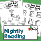 Reading Log:  Nightly Reading Log