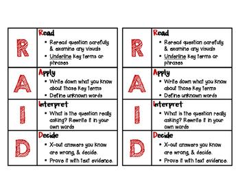 RAID Test Taking Strategy