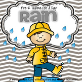 RAIN Weather Theme Unit for Preschool and Pre-K