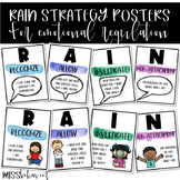 RAIN Strategy Posters | Mindfulness Exercise Posters