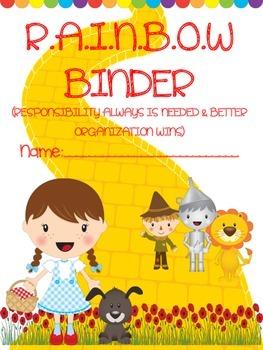 R.A.I.N.B.O.W BINDER COVER