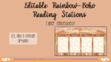 RAINBOW BOHO EDITABLE Reading Stations (With Timer Embedded)