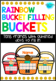 RAINBOW Bucket Filling Buckets - with dots on Tens Frames