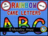 ALPHABET CLIPART: RAINBOW CAKE ALPHABET CLIPART: UPPERCASE