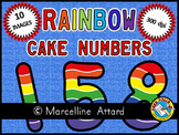 RAINBOW CAKE NUMBERS CLIPART: RAINBOW CAKE CLIPART NUMBERS