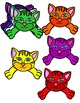 RAINBOW CATS- CAT TOPPERS AND FRAMES