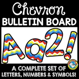 RAINBOW CHEVRON CLASSROOM DECOR (CHEVRON BULLETIN BOARD LE