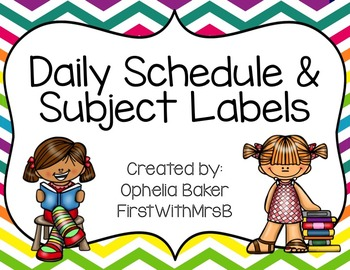 RAINBOW CHEVRON Schedule & Center Labels