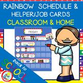 RAINBOW Schedules - Helpers - Jobs CARDS
