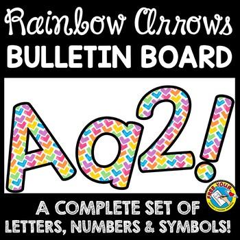 RAINBOW CLASSROOM DECOR WATERCOLOR (RAINBOW BULLETIN BOARD LETTERS PRINTABLE)