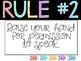 RAINBOW CLASSROOM RULES--WHOLE BRAIN TEACHING