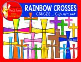 RAINBOW CROSSES - CRUCES CLIPART SET