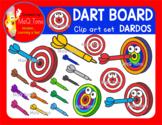 RAINBOW DART BOARD  - DARDOS CLIPART SET