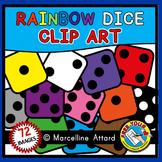 MATH CLIP ART (RAINBOW DICE CLIPART)