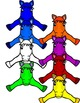 RAINBOW HORSES- HORSE TOPPERS AND FRAMES