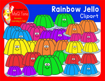 RAINBOW JELLO CLIPART