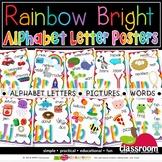 RAINBOW LETTER POSTERS - RAINBOW BRIGHT CLASSROOM DÉCOR