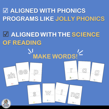 Hollow Letters follows the sound sequence from programs like Jolly Phonics.