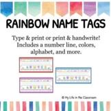 RAINBOW Name Tags {EDITABLE!}