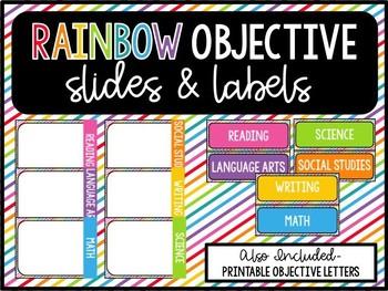 RAINBOW Objective Labels & Slides