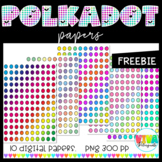 RAINBOW POLKA DOT DIGITAL PAPERS (flash freebie)