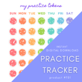 RAINBOW PRACTICE TRACKER   Music Piano Lessons   Simple Ef
