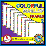 FREE CLIPART FRAMES (RAINBOW SCALLOPED BORDERS)