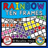 RAINBOW TEN FRAMES CLIPART (NUMBERS 0 TO 10 MATH CLIP ART)