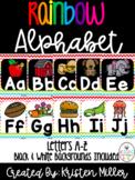 RAINBOW THEME Classroom Decor Posters- Alphabet