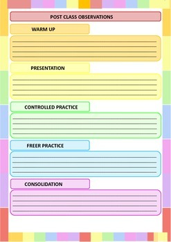 RAINBOW THEMED LESSON PLANNER