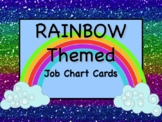 RAINBOW Theme Job Chart Cards/Signs - Great for Classroom Management!