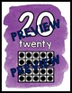 RAINBOW WATERCOLOR CLASSROOM DECOR: NUMBER POSTERS WITH TEN FRAMES 1-20
